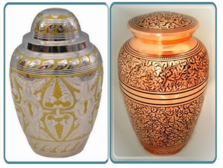 Pair of Premium Brass Urns