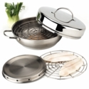"Demeyere Resto 4-pc 11"" Stainless Steel Stovetop Smoker Set"