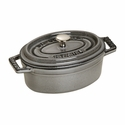 Staub Cast Iron 0.25-qt Mini Oval Cocotte - Visual Imperfections - Graphite Grey