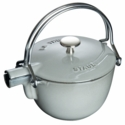 Staub Cast Iron 1-qt Round Tea Kettle - Visual Imperfections - Graphite Grey