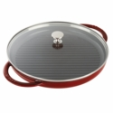 "Staub Cast Iron 12"" Round Steam Grill - Visual Imperfections - Grenadine"