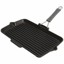 "Staub Cast Iron 13 x 8"" Rectangular Grill Pan - Visual Imperfections"