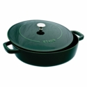 Staub Cast Iron 2.5-qt Chistera Saute Pan - Visual Imperfections - Basil