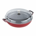 Staub Cast Iron 3.5-qt Braiser with Glass Lid - Cherry
