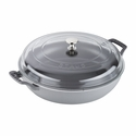 Staub Cast Iron 3.5-qt Braiser with Glass Lid - Graphite Grey