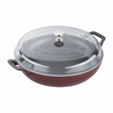 Staub Cast Iron 3.5-qt Braiser with Glass Lid - Grenadine