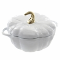 Staub Cast Iron 3.5-qt Pumpkin Cocotte - Visual Imperfections - White
