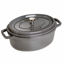 Staub Cast Iron 4.25-qt Oval Cocotte  - Visual Imperfections - Graphite Grey