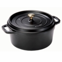 Staub Cast Iron 4-qt Round Cocotte - Visual Imperfections - Black Matte