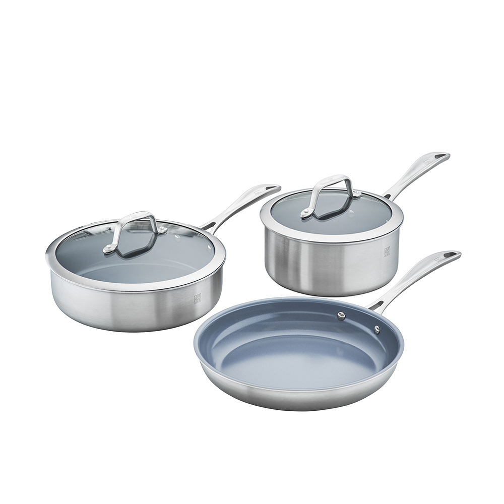 Zwilling Spirit 3 Ply 5 Pc Stainless Steel Ceramic