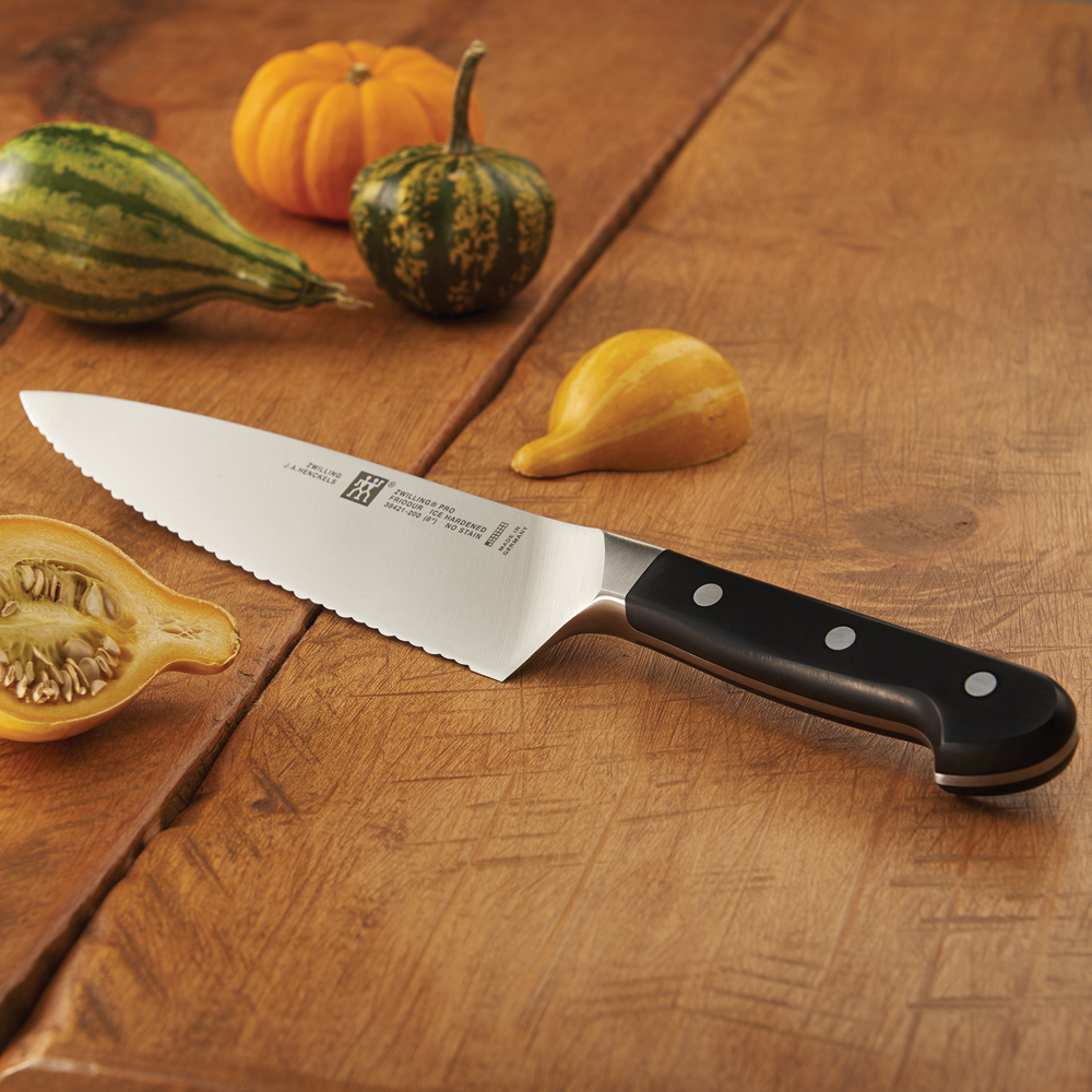 zwilling pro 8 ultimate serrated chef s knife. Black Bedroom Furniture Sets. Home Design Ideas