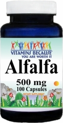 0033 AlfAlfa 500mg 100caps Buy 1 Get 2 Free