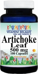 0125 Artichoke Leaf 500mg 100caps Buy 1 Get 2 Free