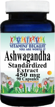 0163 Ashwagandha Standardized Extract 450mg 90caps Buy 1 Get 2 Free