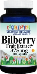 0286 Bilberry Extract 375mg 100caps Buy 1 Get 2 Free