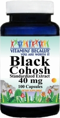 0392 Black Cohosh Standardized Extract 40mg 100caps Buy 1 Get 2 Free