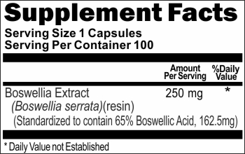 0507 Boswellia Standardized Extract 250mg 100caps Buy 1 Get 2 Free