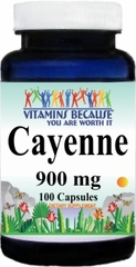 0651 Cayenne 900mg 100caps Buy 1 Get 2 Free