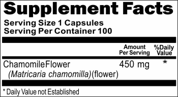 0699 Chamomile Flower 450mg 100caps Buy 1 Get 2 Free