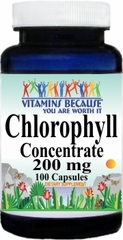0736 Chlorophyll Concentrate 200mg 100caps Buy 1 Get 2 Free