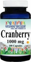 0866 Cranberry 1,000mg 100caps Buy 1 Get 2 Free