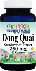 0965 Dong Quai Standardized Extract 250mg 100caps Buy 1 Get 2 Free