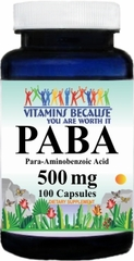 10032 PABA 500mg 100caps Buy 1 Get 2 Free