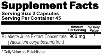 10179 Blueberry Juice Extract Concentrate 900mg 100caps Buy 1 Get 2 Free