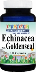 1023 Echinacea with Goldenseal 450mg 100caps Buy 1 Get 2 Free