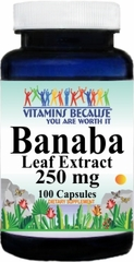 10230 Banaba Leaf Extract 250mg 100caps Buy 1 Get 2 Free