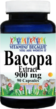 10254 Bacopa Leaf Extract 900mg 90caps Buy 1 Get 2 Free