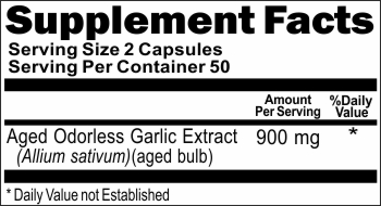 10292 Odorless Aged Garlic Extract 900mg 100caps Buy 1 Get 2 Free