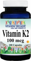10308 Vitamin K2 100mcg 100caps Buy 1 Get 2 Free