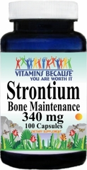 10476 Strontium Bone Maintenance 340mg 100caps Buy 1 Get 2 Free