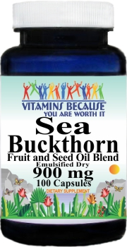 10650 Sea Buckthorn 900mg 100caps Buy 1 Get 2 Free