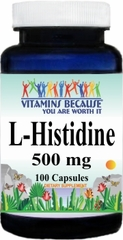 10681 L-Histidine 500mg 100caps Buy 1 Get 2 Free