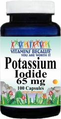 10742 Potassium Iodide 65mg 100caps Buy 1 Get 2 Free