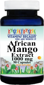 10834 African Mango Extract 1000mg 90caps Buy 1 Get 2 Free