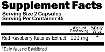 10858 Red Raspberry Ketones Extract 900mg 90caps Buy 1 Get 2 Free