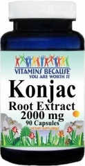 10865 Konjac Root Extract 2000mg 90caps Buy 1 Get 2 Free