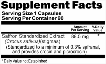 10919 Saffron Standardized Extract 88.5mg 90caps Buy 1 Get 2 Free