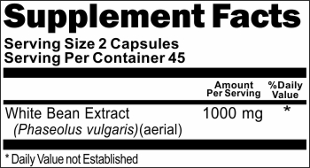 10988 White Bean Extract 1000mg 90caps Buy 1 Get 2 Free