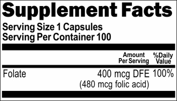 11060 Folate 400mcg 100caps Buy 1 Get 2 Free