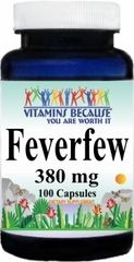 1108 Feverfew 380mg 100caps Buy 1 Get 2 Free