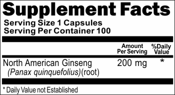 11145 North American Ginseng 200mg 100caps Buy 1 Get 2 Free