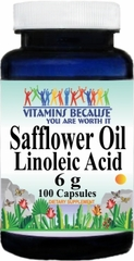 11169 Safflower Oil Linoleic Acid 6g 100caps Buy 1 Get 2 Free