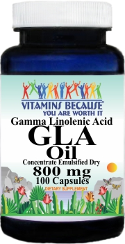 11176 GLA (Gamma Linolenic Acid) 800mg 100caps Buy 1 Get 2 Free