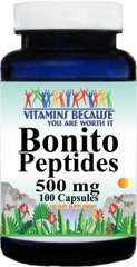 11183 Bonito Peptides 500mg 100caps Buy 1 Get 2 Free