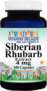 11190 Siberian Rhubarb Extract 4mg 100caps Buy 1 Get 2 Free