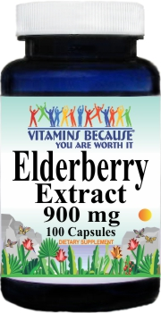 11206 Elderberry Extract 900mg 100caps Buy 1 Get 2 Free